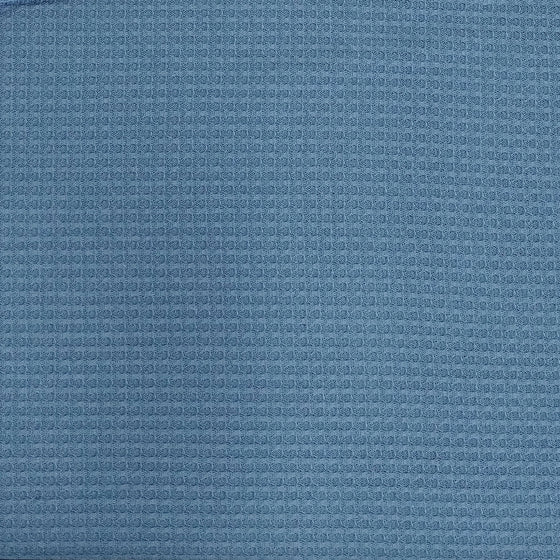 Dusty Denim Blue Waffle Knit Fabric - Raspberry Creek Fabrics