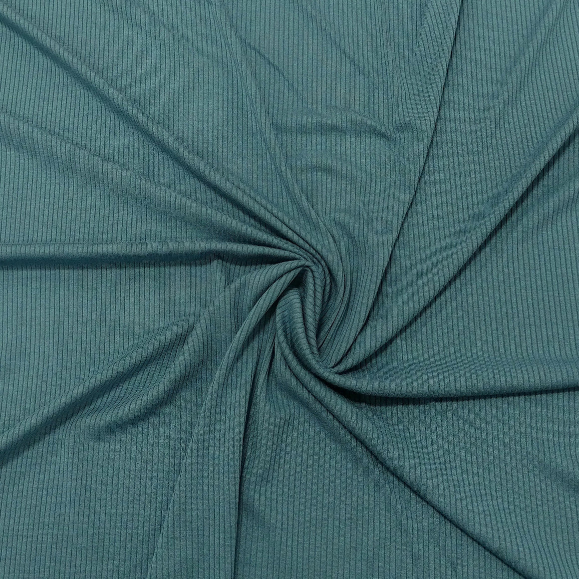 Solid Teal Blue Tencel Modal Spandex 4 Way Stretch 3x2 Rib Knit - Raspberry Creek Fabrics