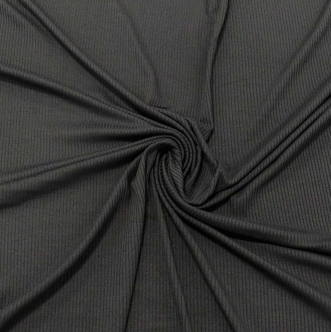 Solid Pavement Grey Tencel Modal Spandex 4 Way Stretch 3x2 Rib Knit - Raspberry Creek Fabrics