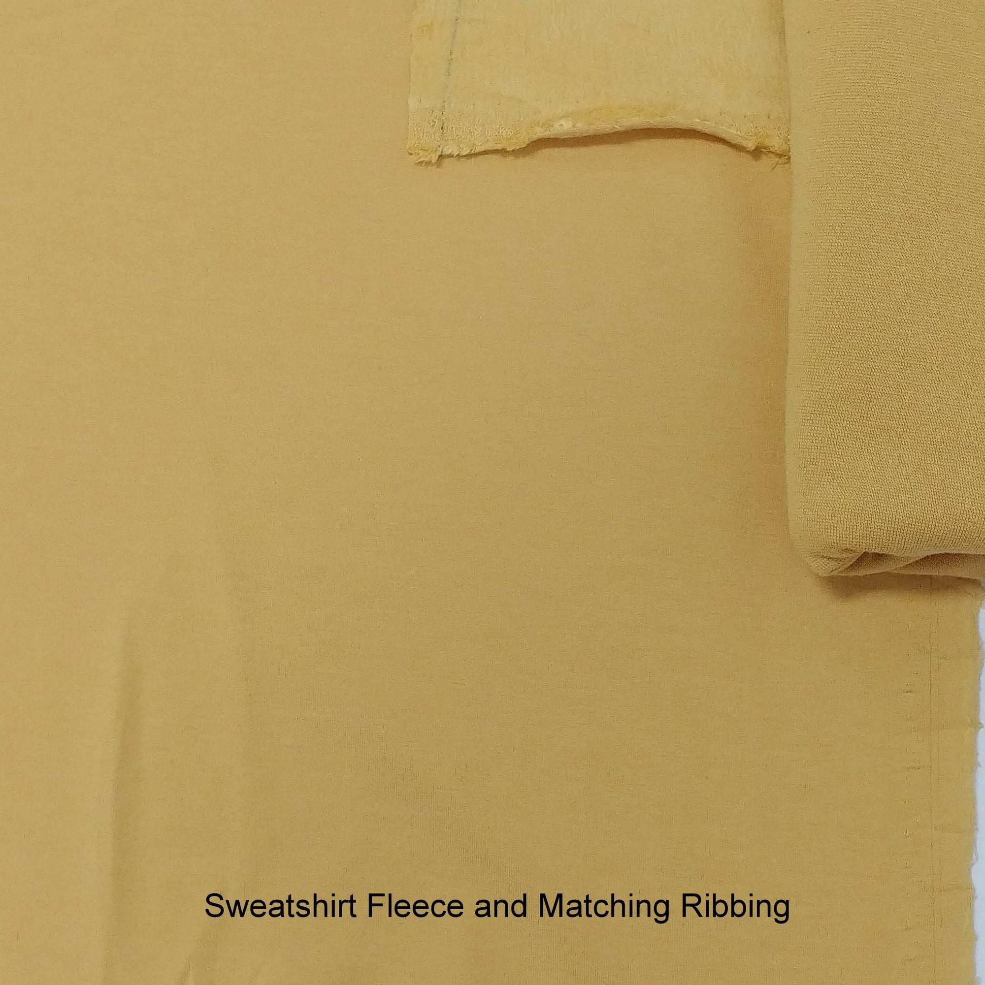 Dusty Mustard Bamboo Cotton Spandex 4 Way Stretch Sweatshirt Fleece - Raspberry Creek Fabrics Knit Fabric