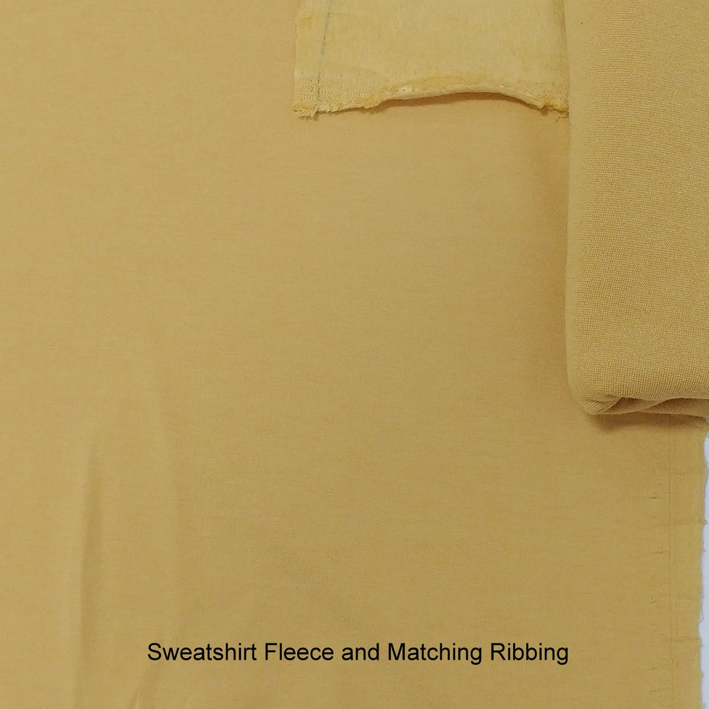 Dusty Mustard Bamboo Cotton Spandex 4 Way Stretch 1x1 Ribbing - Raspberry Creek Fabrics
