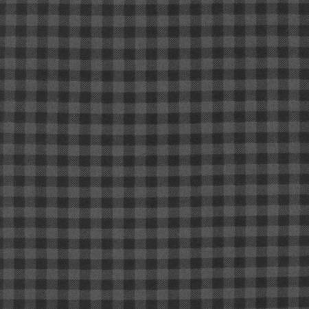 Black and Grey Square Check Plaid Robert Kaufman Burley Beavers Plaid Flannel, 1 Yard