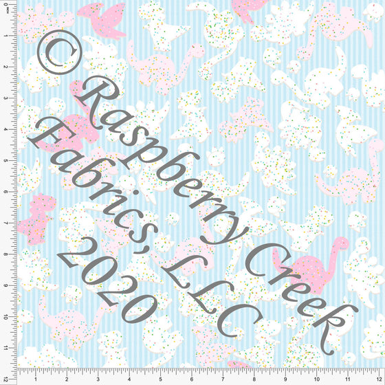 Light Blue Tonal Pink and White Animal Cookies, Candy Shoppe By Bri Powell for Club Fabrics - Raspberry Creek Fabrics