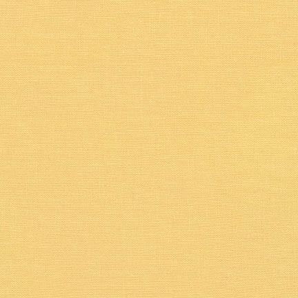 Buttercup Yellow Washable Yarn Dyed Rayon Linen, Brussels Washer Linen Collection By Robert Kaufman, 1 Yard