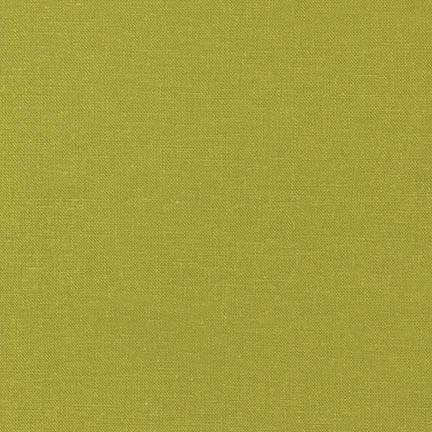 Pear Green Washable Yarn Dyed Rayon Linen, Brussels Washer Linen Collection By Robert Kaufman - Raspberry Creek Fabrics