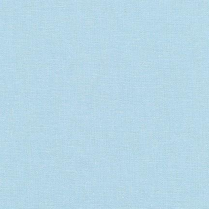 Frost Light Blue Washable Yarn Dyed Rayon Linen, Brussels Washer Linen Collection By Robert Kaufman, 1 Yard