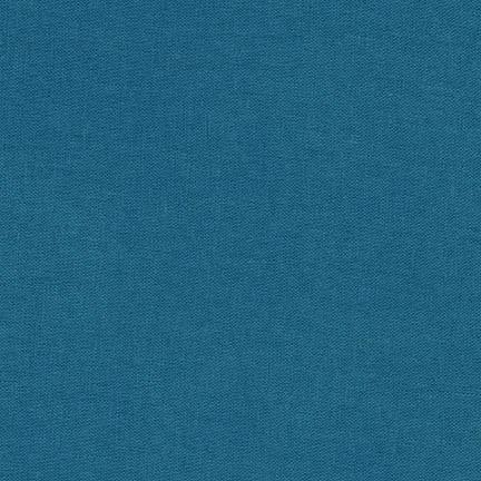 Ocean Teal Blue Washable Yarn Dyed Rayon Linen, Brussels Washer Linen Collection By Robert Kaufman, 1 Yard