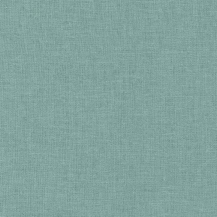 Mist Dusty Green Washable Yarn Dyed Rayon Linen, Brussels Washer Linen Collection By Robert Kaufman, 1 Yard - Raspberry Creek Fabrics