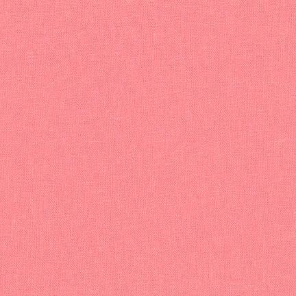 Nectar Coral Pink Washable Yarn Dyed Rayon Linen, Brussels Washer Linen Collection By Robert Kaufman, 1 Yard