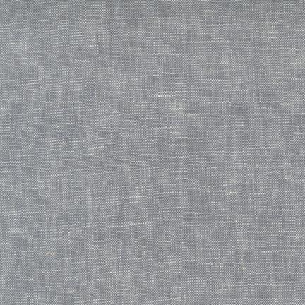 Grey Washable Yarn Dyed Rayon Linen, Brussels Washer Linen Collection By Robert Kaufman, 1 Yard - Raspberry Creek Fabrics