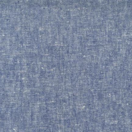 Denim Blue Washable Yarn Dyed Rayon Linen, Brussels Washer Linen Collection By Robert Kaufman, 1 Yard