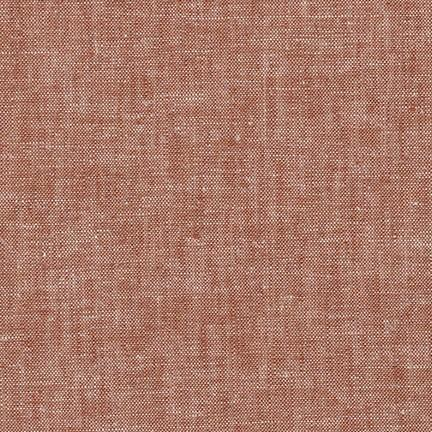 Redrock Rust Washable Yarn Dyed Rayon Linen, Brussels Washer Linen Collection By Robert Kaufman, 1 Yard