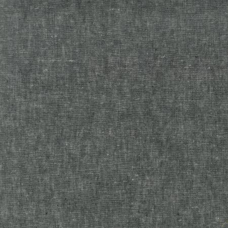 Black Washable Yarn Dyed Rayon Linen, Brussels Washer Linen Collection By Robert Kaufman, 1 Yard