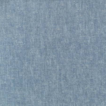 Chambray Blue Washable Yarn Dyed Rayon Linen, Brussels Washer Linen Collection By Robert Kaufman, 1 Yard - Raspberry Creek Fabrics