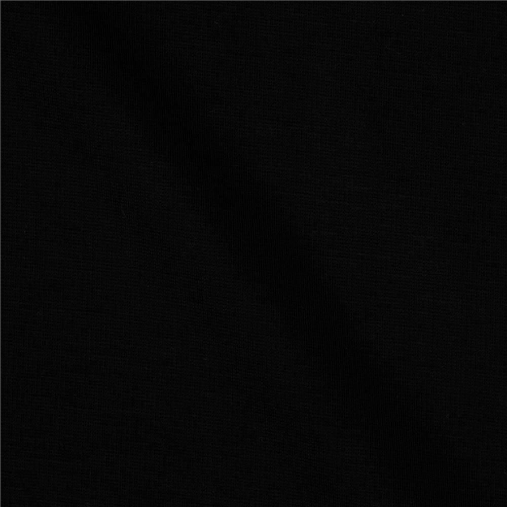 Black Modal Spandex Jersey Knit Fabric - Raspberry Creek Fabrics