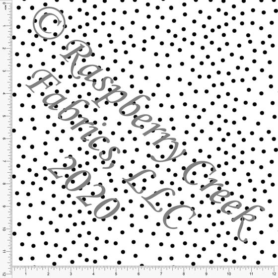 Black and White Random Polka Dot, Happy Halloween by Kimberly Henrie for Club Fabrics - Raspberry Creek Fabrics