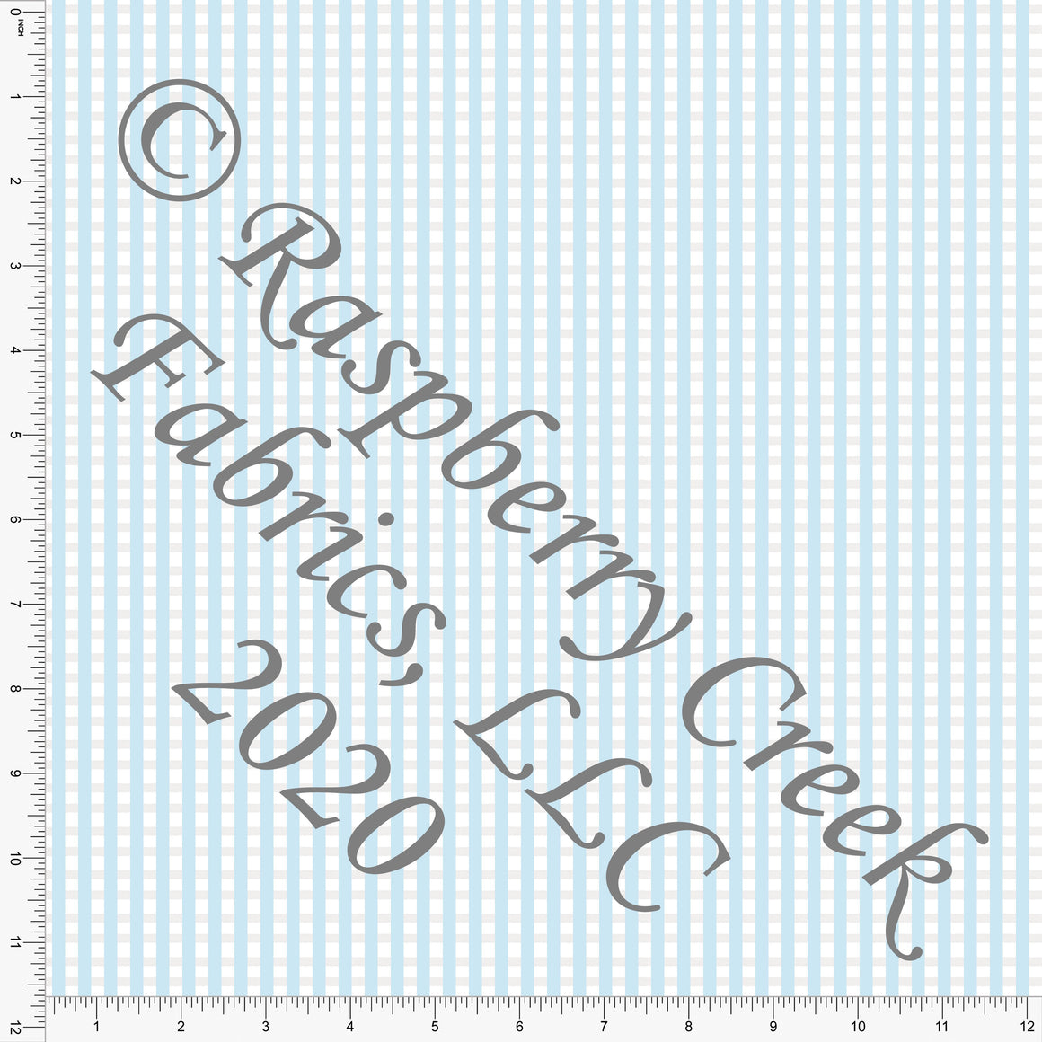 Light Blue and White Faux Seersucker, By Bri Powell for Club Fabrics - Raspberry Creek Fabrics