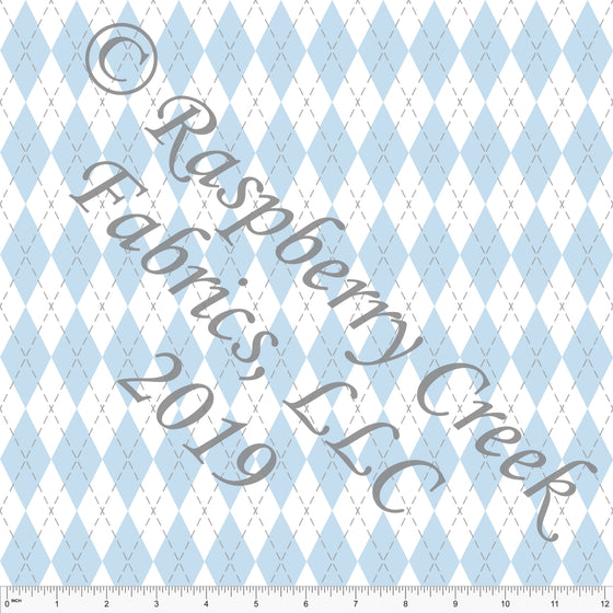 Light Blue and Grey Geometric Argyle 4 Way Stretch Jersey Knit, Easter by McKenzie Powell for CLUB Fabrics - Raspberry Creek Fabrics