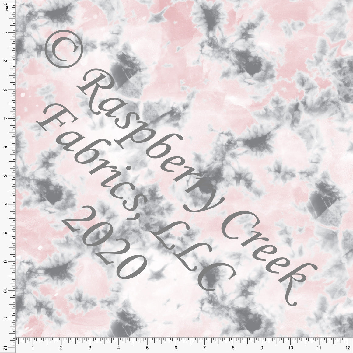 Dusty Pink Grey and White Random Tie Dye, Club Fabrics - Raspberry Creek Fabrics