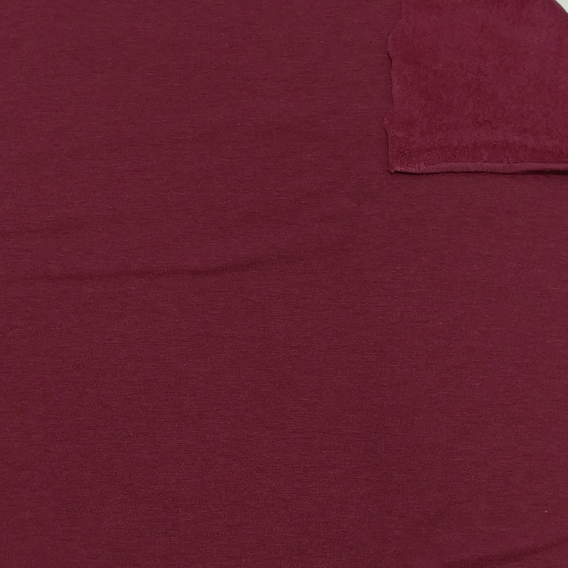 Burgundy Lyocell Organic Cotton Spandex 4 Way Stretch Sweatshirt Fleece - Raspberry Creek Fabrics
