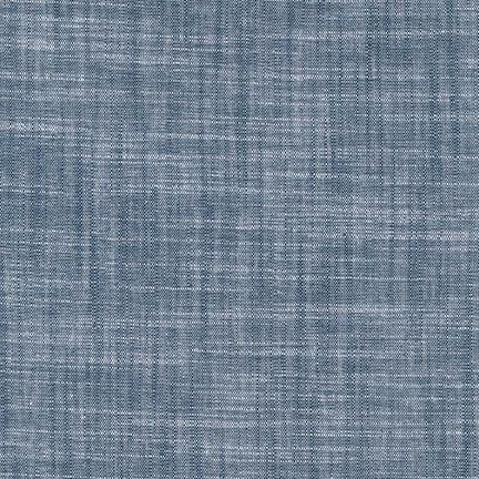 Light Indigo Slub Stretch Chambray, Chambray Union Collection by Robert Kaufman, 1 Yard