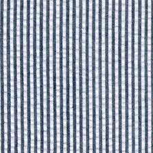 Indigo Blue Pin Stripe Seersucker, Robert Kaufman Seersucker Collection - Raspberry Creek Fabrics Knit Fabric