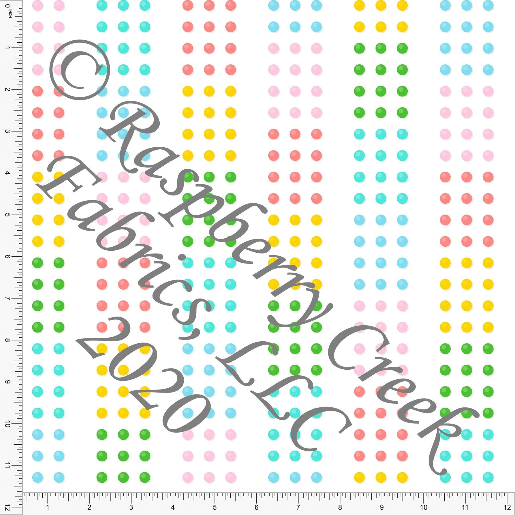 Pink Blue Green and Yellow Vertical Stripe Candy Dots, Candy Shoppe By Bri Powell for Club Fabrics - Raspberry Creek Fabrics Knit Fabric