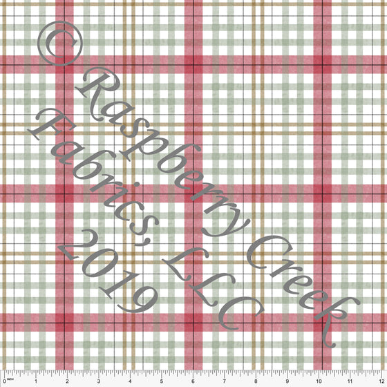 Red Camel and Sage Cozy Plaid by Bri Powell for Club Fabrics - Raspberry Creek Fabrics