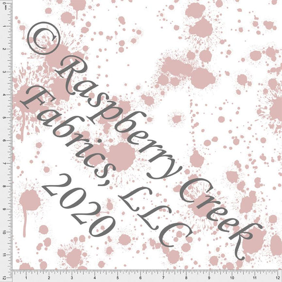 Dusty Pink Paint Splatter Look, Textures for Club Fabrics - Raspberry Creek Fabrics