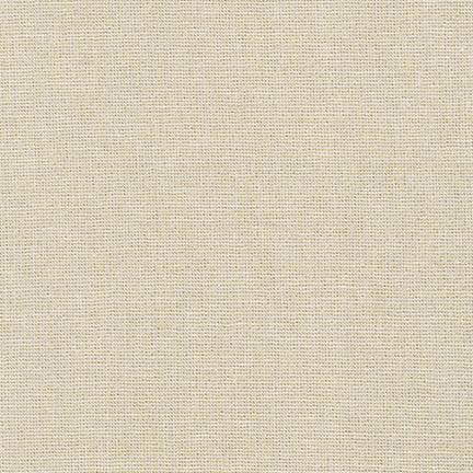 Sand Tan and Gold Yarn Dyed Metallic Linen, Essex Linen Blend Collection By Robert Kaufman, 1 Yard