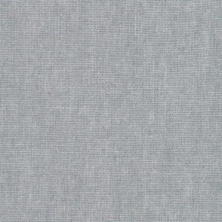 Platinum Grey and Silver Yarn Dyed Metallic Linen, Essex Linen Blend Collection By Robert Kaufman, 1 Yard