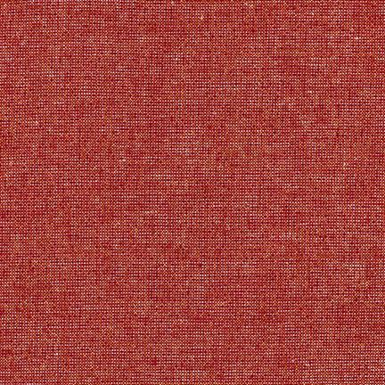 Ruby Red Yarn Dyed Metallic Linen, Essex Linen Blend Collection By Robert Kaufman, 1 Yard