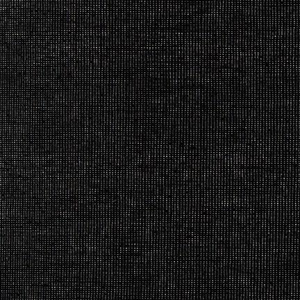 Black and Gold Yarn Dyed Metallic Linen, Essex Linen Blend Collection By Robert Kaufman, 1 Yard - Raspberry Creek Fabrics