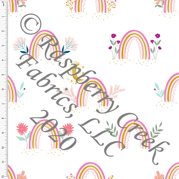 Magenta Mustard Pink Sage and Mint Easter Rainbows, By Kimberly Henrie for Club Fabrics CLUB