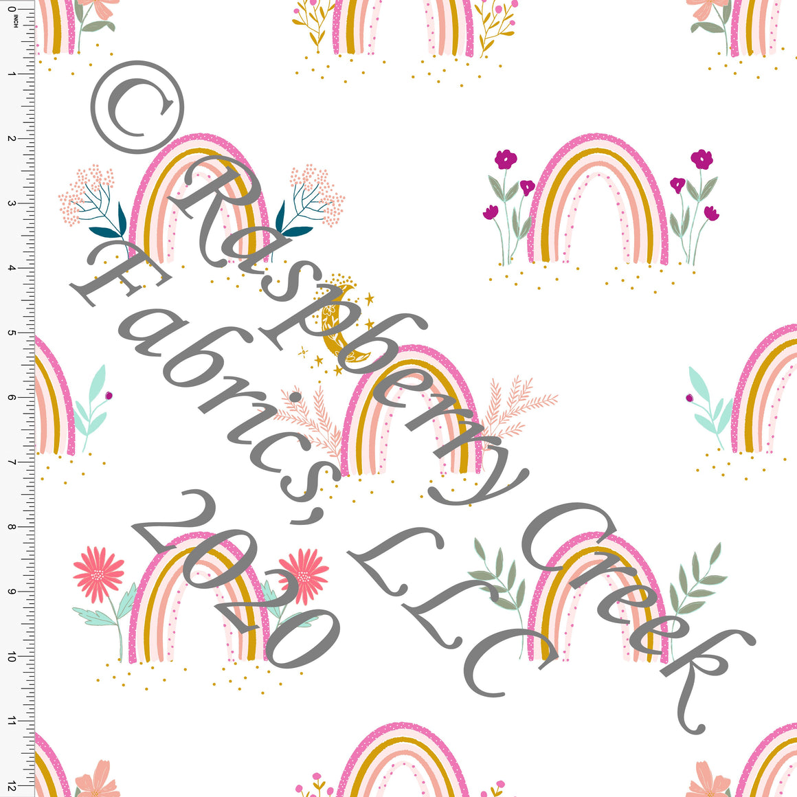 Magenta Mustard Pink Sage and Mint Easter Rainbows, By Kimberly Henrie for Club Fabrics - Raspberry Creek Fabrics