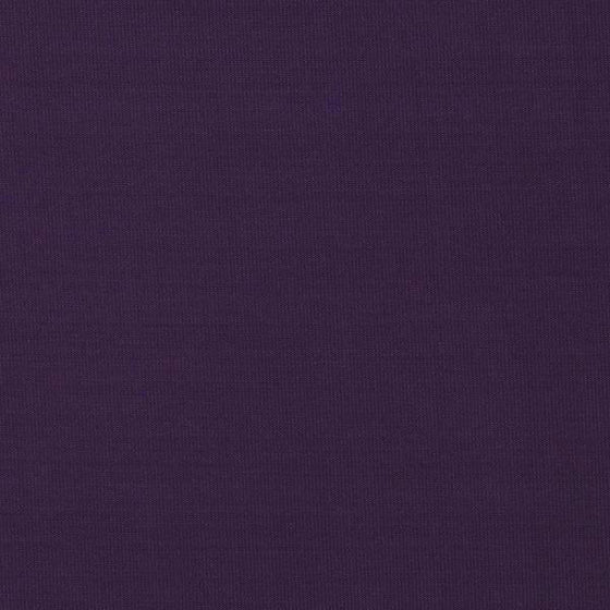 Solid Eggplant Double Brushed Poly Spandex Knit, 1 Yard
