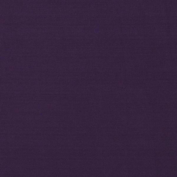 Solid Eggplant Double Brushed Poly Spandex Knit, 1 Yard - Raspberry Creek Fabrics