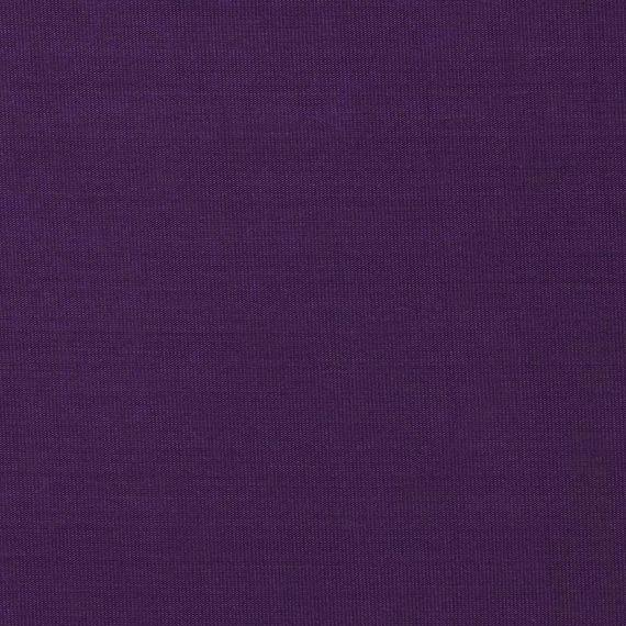 Solid Bright Eggplant Rayon Challis - Raspberry Creek Fabrics Knit Fabric