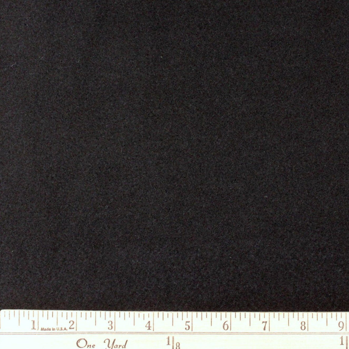 Solid Black Wool