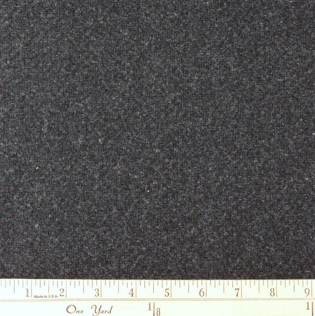 Charcoal Grey Basket Weave Texture Wool