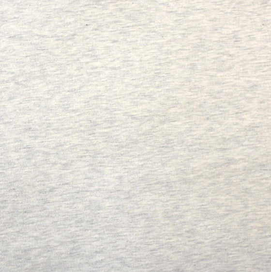 Solid Heathered Oatmeal 4 Way Stretch Jersey Knit Fabric With Spandex, 1 Yard