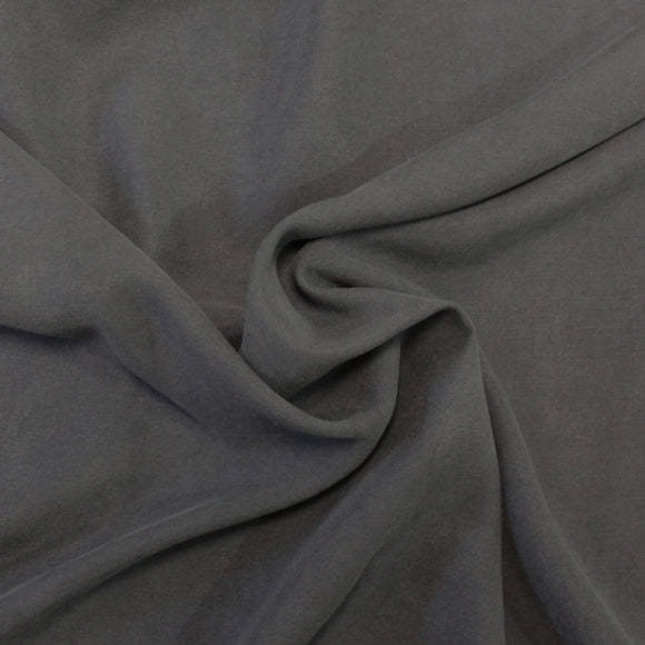 Charcoal Grey Lightweight Enzyme Wash Tencel Twill, 1 Yard