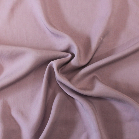Dusty Light Purple Lightweight Enzyme Wash Tencel Twill, 1 Yard