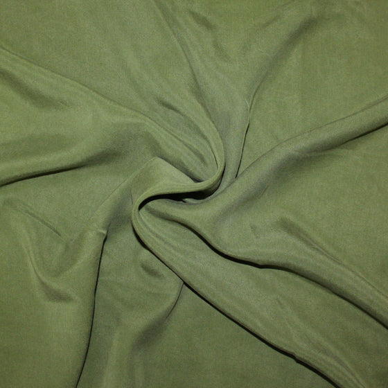 Moss Green Lightweight Enzyme Wash Tencel Twill, 1 Yard