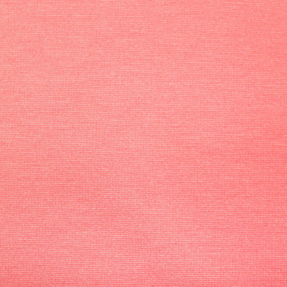 Coral Ponte De Roma Knit Fabric, 1 yard - Raspberry Creek Fabrics