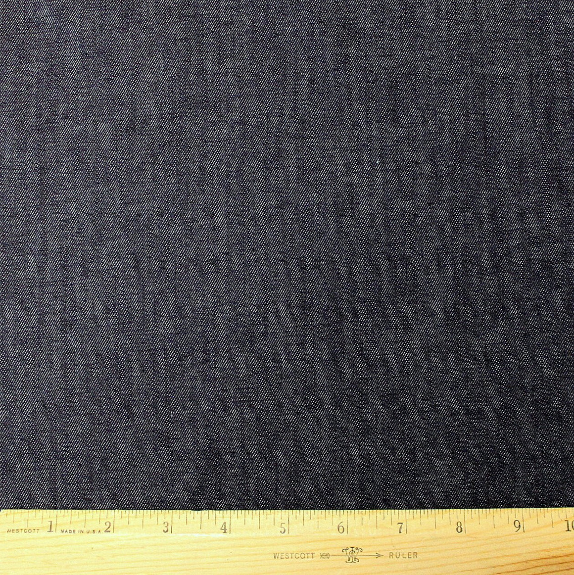 Dark Indigo Medium Weight Cone Mills Stretch Denim, 1 yard - Raspberry Creek Fabrics