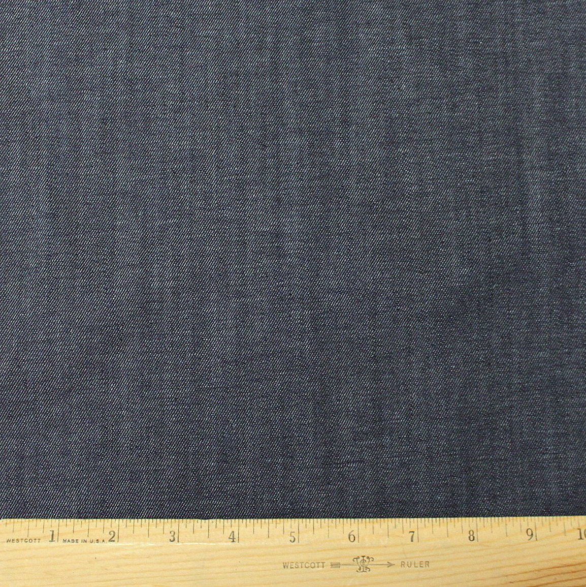 Medium Indigo Medium Weight Cone Mills Stretch Denim, 1 yard
