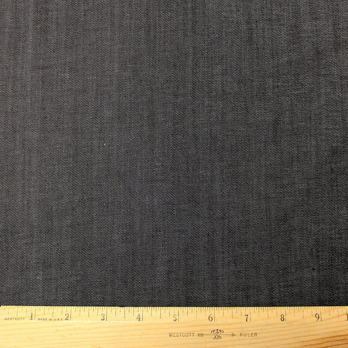 Black Medium Weight Cone Mills Tencel Stretch Denim, 1 yard - Raspberry Creek Fabrics