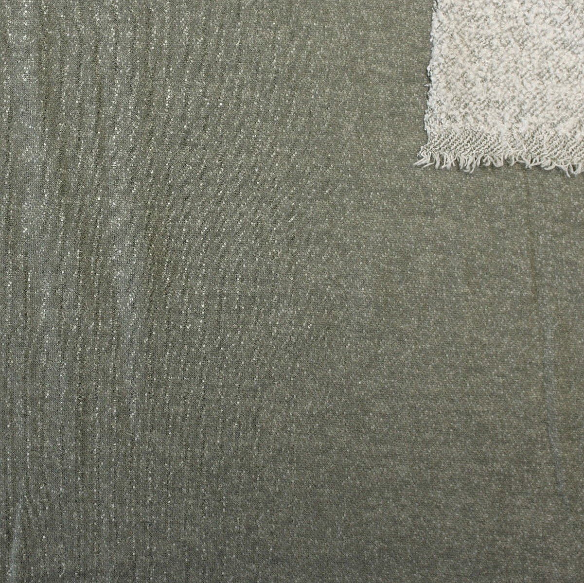 Dusty Olive Brushed Heathered French Terry Knit Fabric - Raspberry Creek Fabrics Knit Fabric