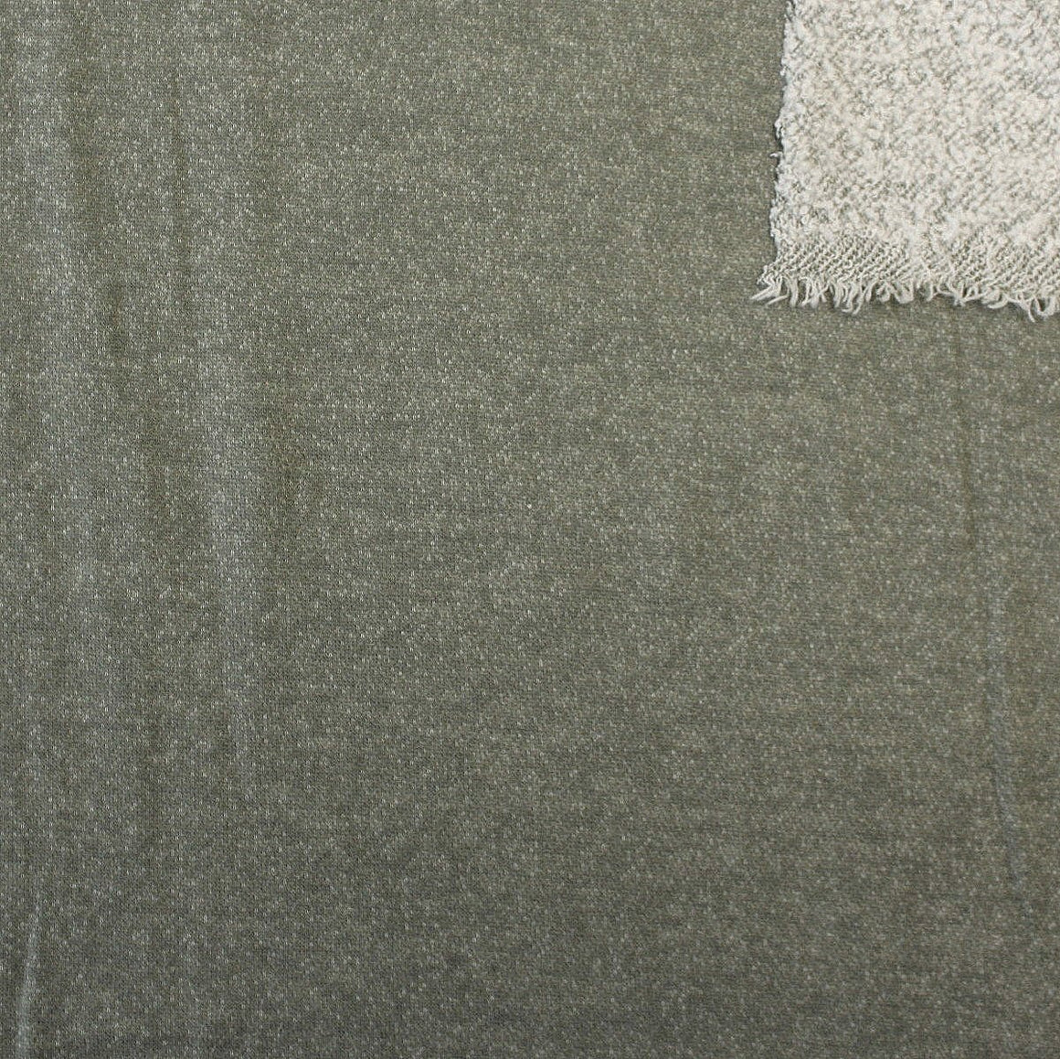 Dusty Olive Brushed Heathered French Terry Knit Fabric Raspberry Creek Fabrics